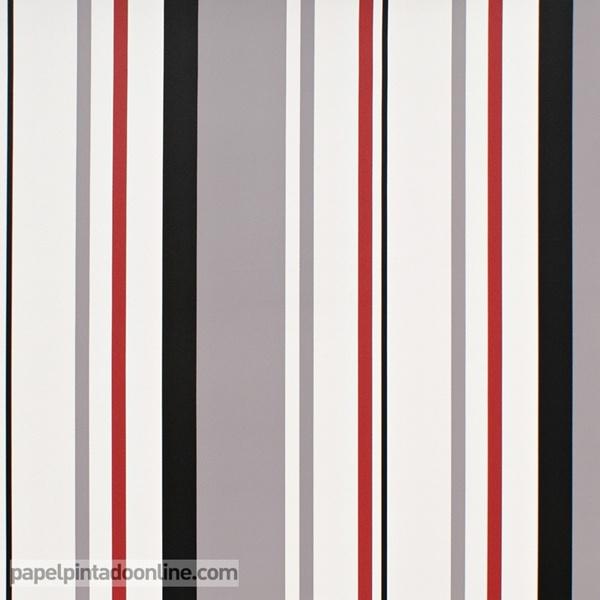 Negro y rojo papel pintado de pared for Papel pintado rojo