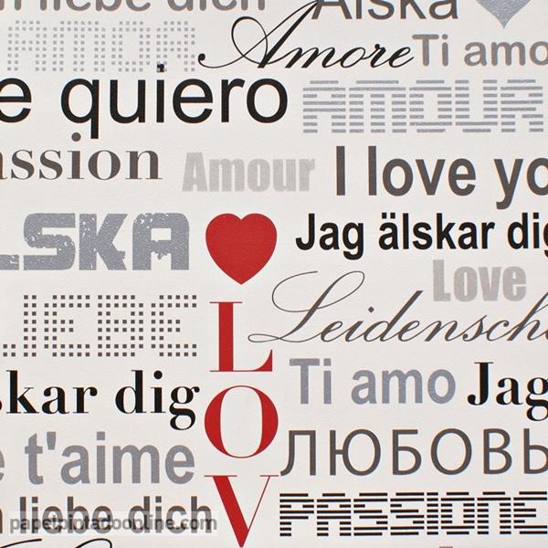 Papel pintado letras te quiero papel pintado de pared - Papel pintado letras para paredes ...
