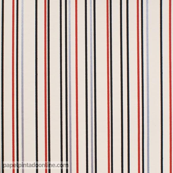 Papel pintado rayas negras y rojas papel pintado de pared - Papel pintado blanco y plata ...