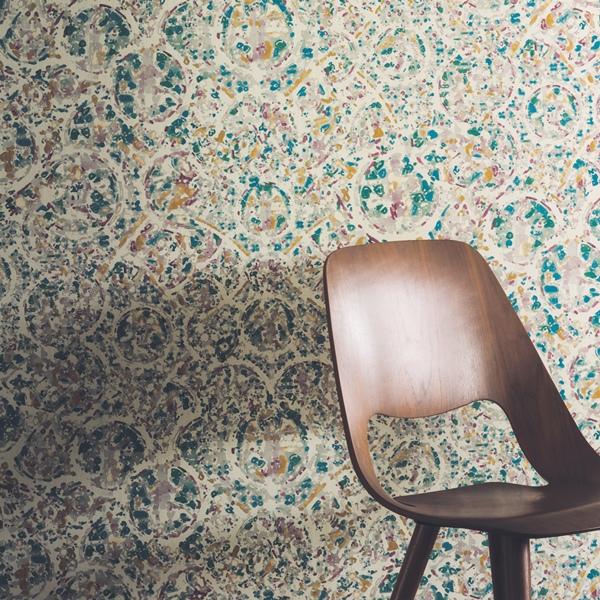 Papel pared acuarela verde papel pintado de pared for De papel pintado