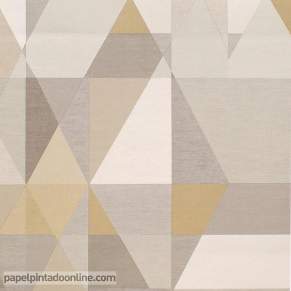Papel pintado formas geom tricas papel pintado de pared for Precio de papel pintado