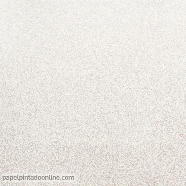 Papel pared blanco roto y plata papel pintado de pared Color blanco roto para paredes